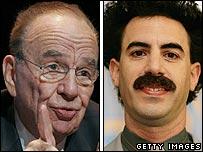 Rupert Murdoch and Sacha Baron Cohen
