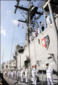 The guided missile frigate USS Gary