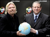 AP photo of Branson and Gore