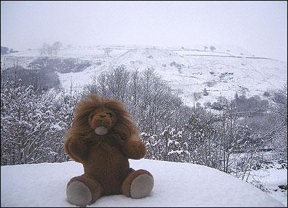 Winter in Wattstown, Rhondda by Angharad Davies