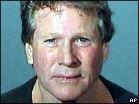 Police mugshot of Ryan O'Neal after his altercation with son Griffin