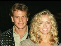 Ryan O'Neal with Farrah Fawcett