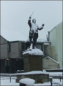 Caradog's Statue, Victoria Square, Aberdare