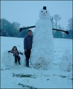 Bertie the snowman