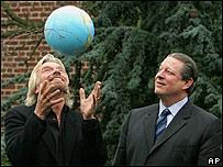 Richard Branson y Al Gore