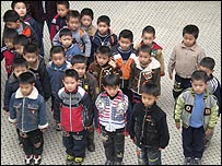 Boys in a Chinese kindergarten class