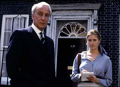 Ian Richardson with Susannah Harker in House of Cards