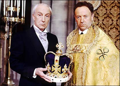 Ian Richardson with Michael Kitchen in To Play the King
