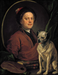 Hogarth self portrait