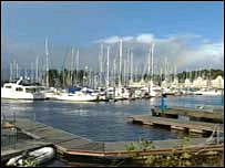 Boats in Inverkip marina, Scotland