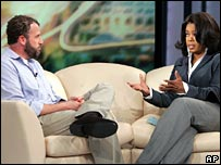 "Having first championed A Million Little Pieces, Oprah asked the author why he ""felt the need to lie"""