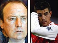 Rafa Benitez and Cesc Fabregas