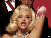 Anna Nicole Smith dressed as Marilyn Monroe in an advert for People for the Ethical Treatment of Animals