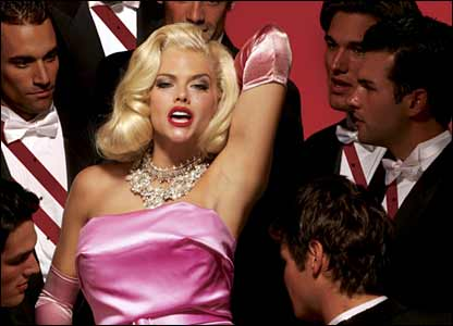 Anna Nicole Smith in an anti-fur campaign poster for Peta (Photo: Peta/Robert Sebree