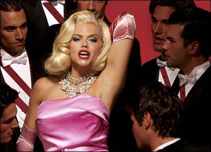Anna Nicole Smith in an anti-fur campaign poster for Peta (Photo: Peta/Robert Sebree