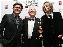 Gay Byrne receives his award