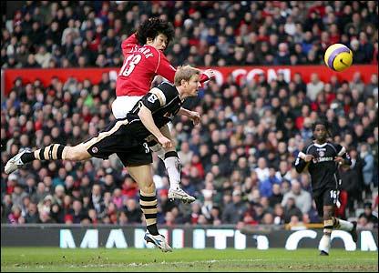 Ji-Sung Park scores Man Utd's opener at Old Trafford