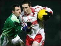 Raymond Johnston challenges Colm Cavanagh