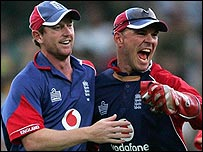 Paul Nixon and Paul Collingwood