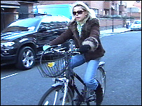 Julia Stephenson on her bike