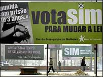 Pro-choice campaign billboards