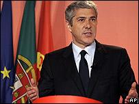 José Sócrates, primer ministro de Portugal