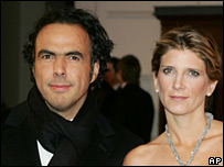 Alejandro Gonzalez Inarritu and his wife