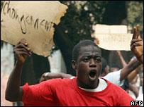 Protester in Guinea