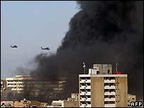 Humo sobre Bagdad tras los atentados