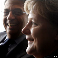 Amr Moussa of the Arab League, and Angel Merkel