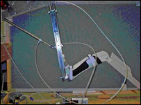 Picture of the robotic physiotherapy device being developed by scientists