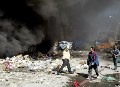 Shopkeepers salvaging their goods