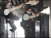 Simon Pegg and Nick Frost in Hot Fuzz (Universal Pictures)