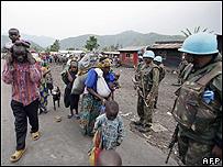 UN troops on patrol in DR Congo