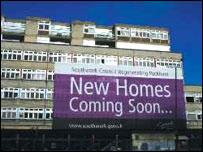The Wooddene estate in Peckham