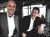 Swedish PM Fredrik Reinfeldt and Tory leader David Cameron