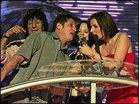 Ronnie Wood, Brandon Block, Thora Birch and Davina McCall