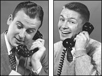 Taking a phone call