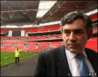 Gordon Brown at Wembley