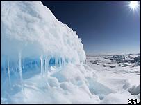 Arctic ice in Lancaster Sound, Nunavut, Canada