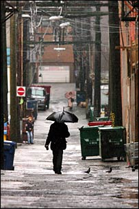 An alley on Vancouver's Eastside (Photo by Rob Kruyt for the BBC News website)