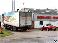 A Bernard Matthews lorry