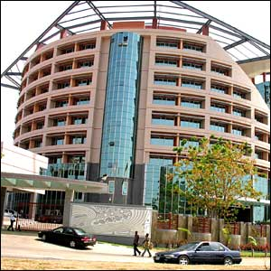 Gleaming new National Communications Commission headquarters in central Abuja