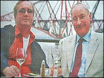 The two men were pictured in the Irish News newspaper [Picture: Irish News]