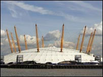 The O� Arena was formerly known as the Millennium Dome