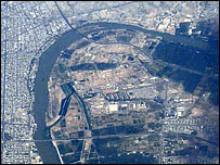 Baghdad ariel view - Google Earth
