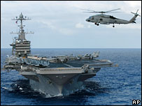 US aircraft carrier USS John C Stennis (file picture)