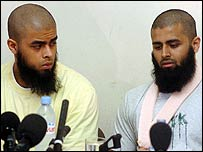 Abul Koyair, 20, and his injured brother Mohammed Abdul Kahar