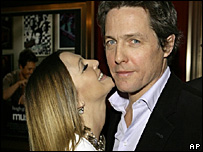 Drew Barrymore and Hugh Grant