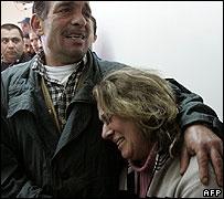 Grieving relatives after Bikfaya bus bombing